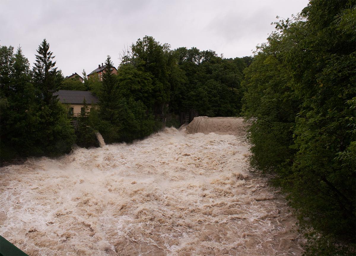 Hochwasser in Hallein 2013