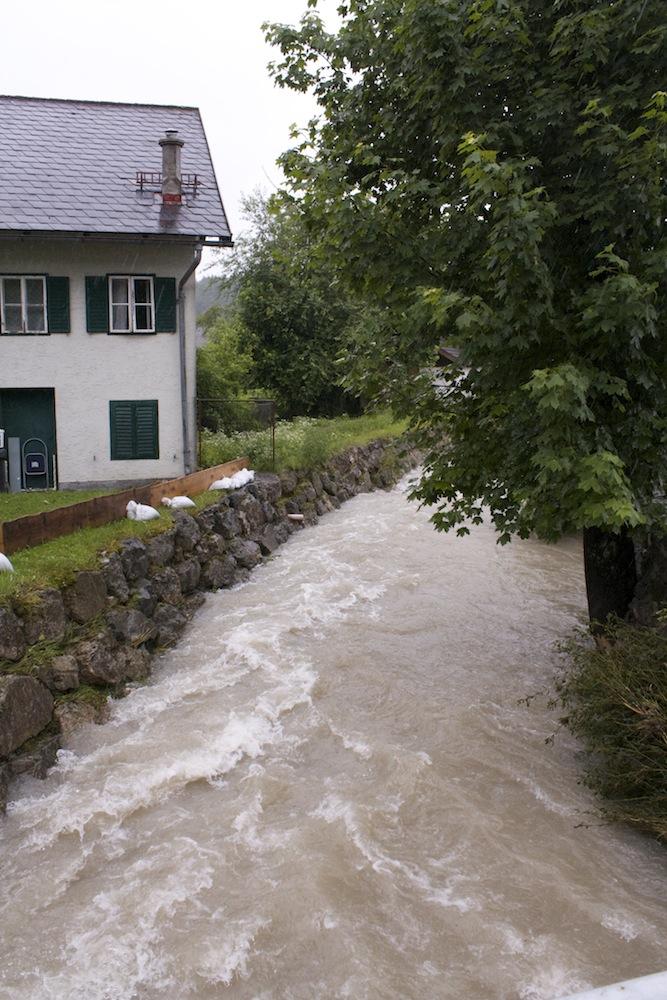 Spumbach in Waidach Hochwasser 2013