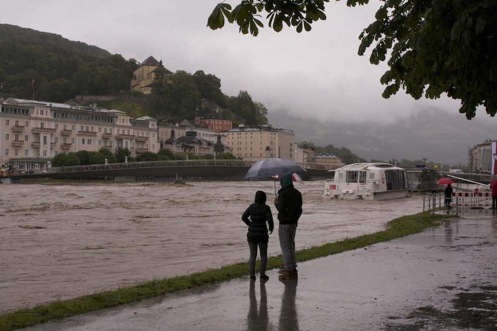 Hochwasser in Salzburg, Salzach 2013
