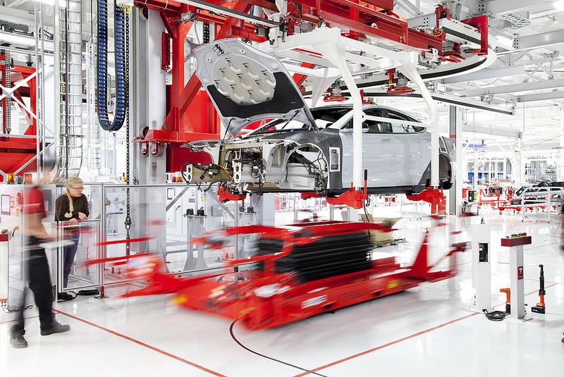 Herstellung Tesla Model S